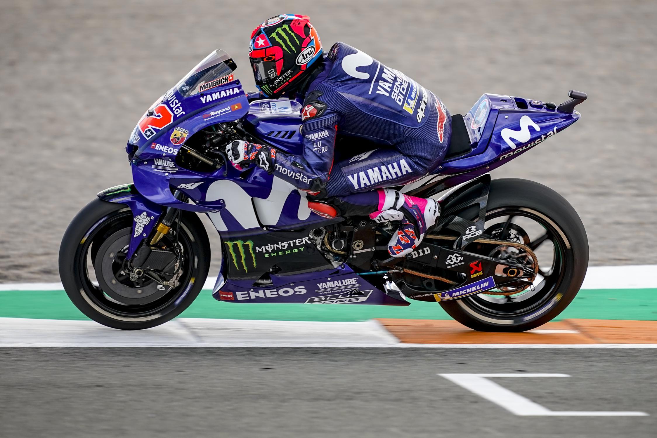 MOTO GP 2019 COMPÉTITIONS Maverick-vinales-valenciatest-j2-motogp-2018