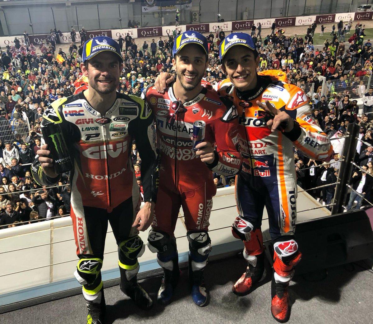 MOTO GP- Grand Prix du Qatar – Losail-10 mars 2019 - Page 3 Dovizioso-Qatar19-podium