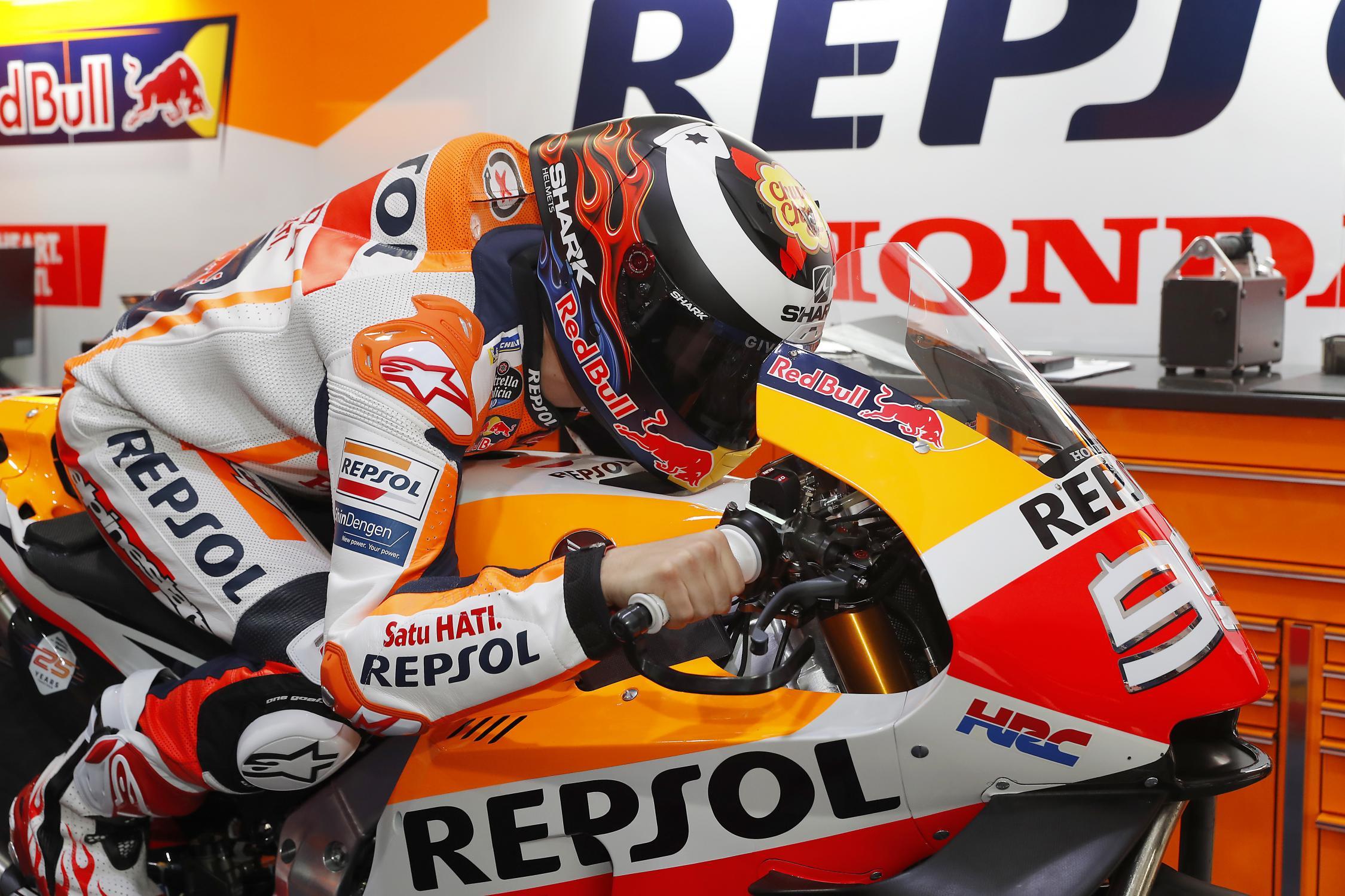 MOTO GP- Grand Prix du Qatar – Losail-10 mars 2019 Jorge-lorenzo-qatar-motogp-box-test-2019
