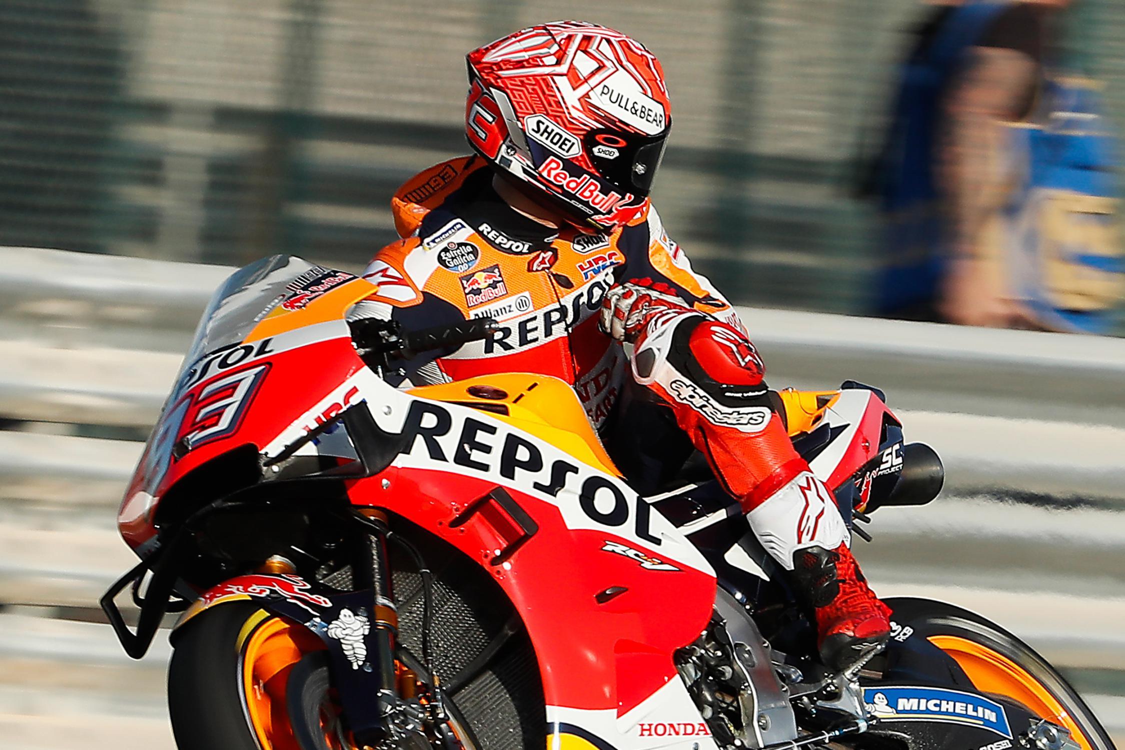 MOTO GP- Grand Prix du Qatar – Losail-10 mars 2019 Marc-marquez-losail-motogp-test-qatar-2019-j1