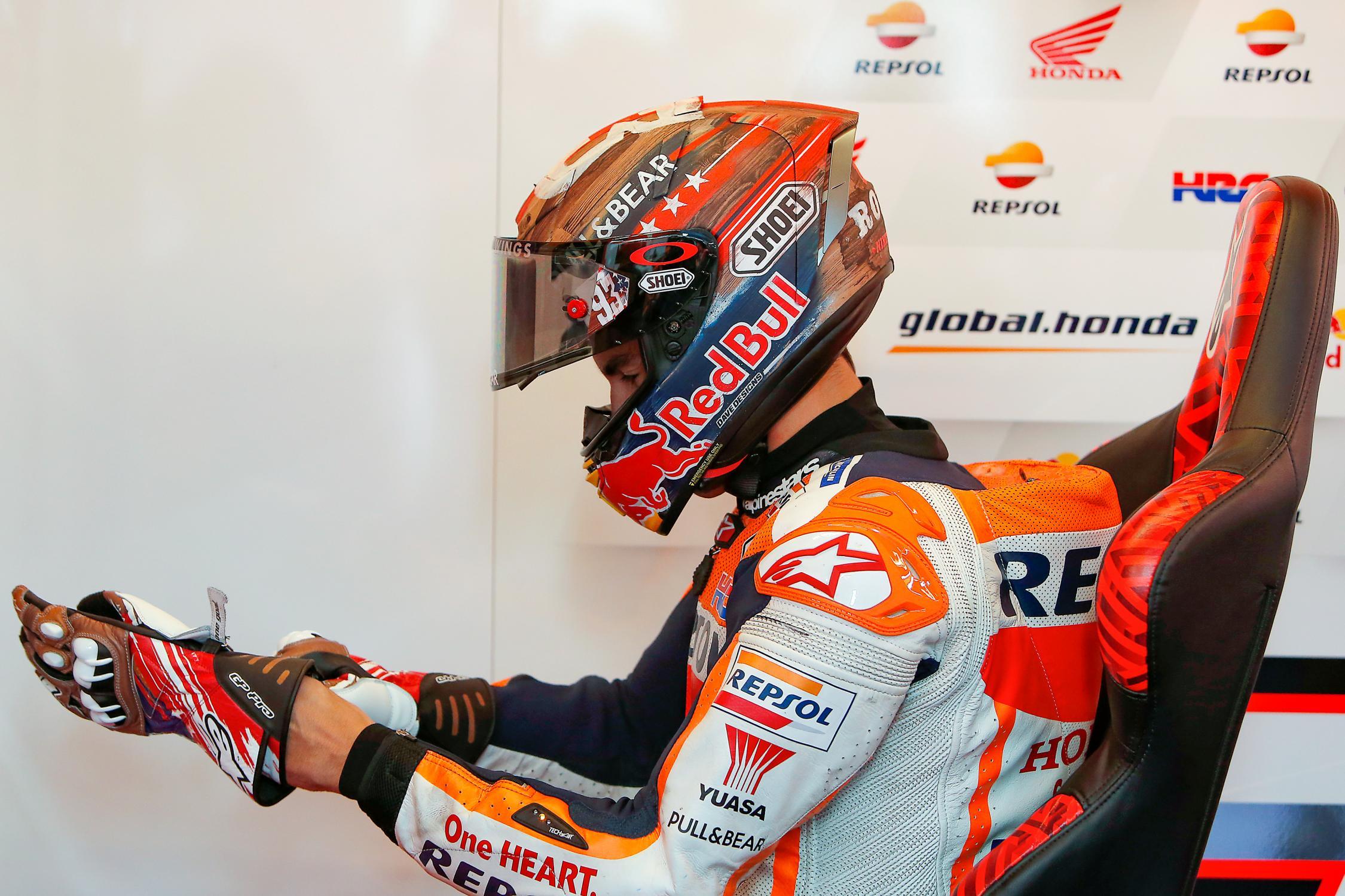 MOTO GP Grand Prix d'Espagne – Jerez  5 mai 2019  Marc-marquez-austin-motogp-samedi-2019-box