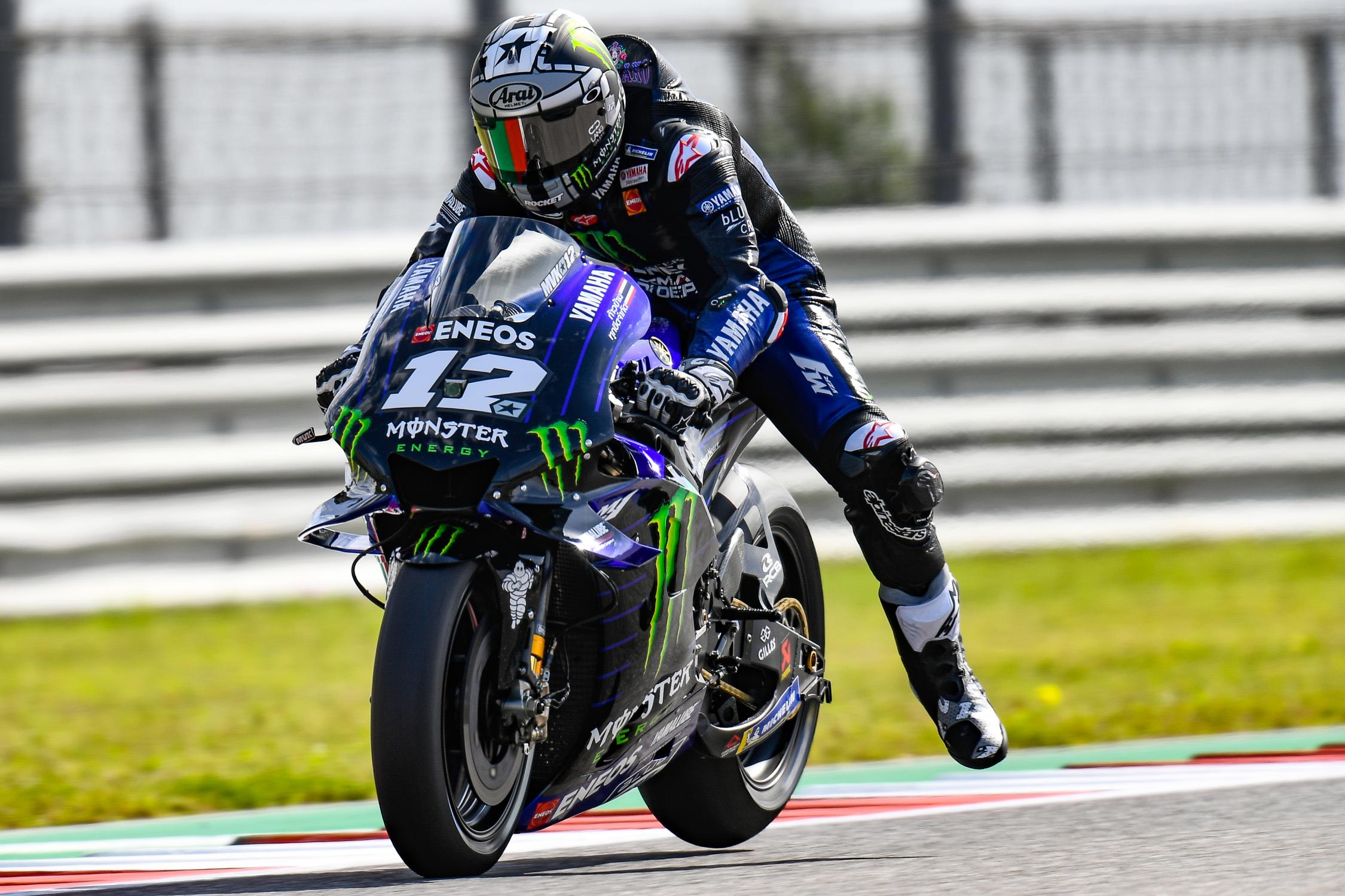 MOTO GP Grand Prix d'Espagne – Jerez  5 mai 2019  Maverick-vinales-austin-motogp-2019-freinage