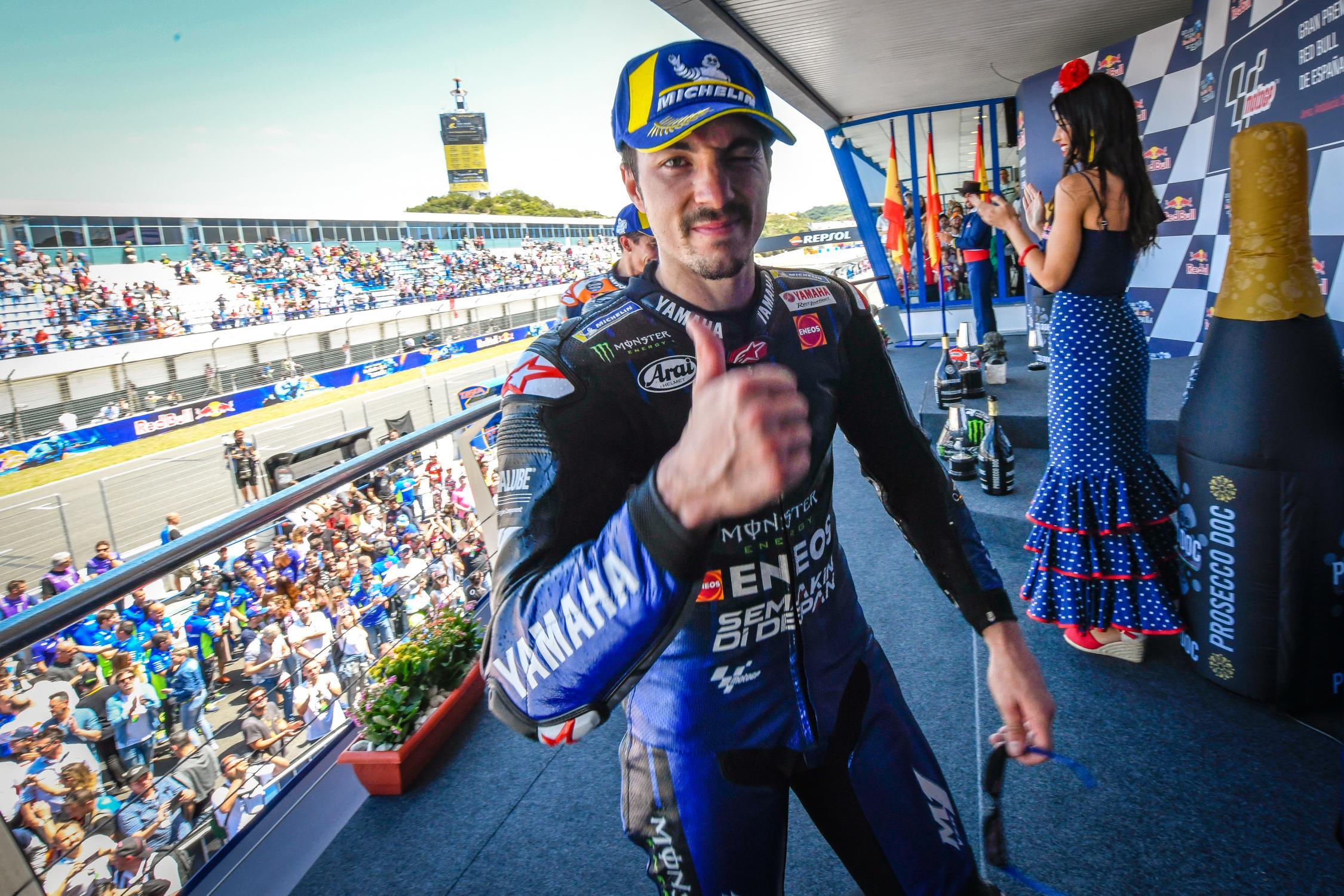 MOTO GP Grand Prix d'Espagne – Jerez  5 mai 2019  - Page 2 Maverick-vinales-jerez-podium-motogp-2019