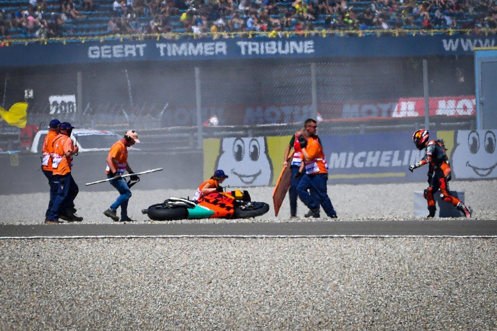MOTO GP : GRAND PRIX DES PAYS BAS ASSEN DU 28 AU 30 JUIN 2019 Johann-zarco-crash-assen-motogp-2019-2-1024x683