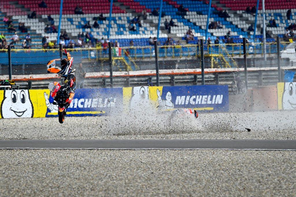 MOTO GP : GRAND PRIX DES PAYS BAS ASSEN DU 28 AU 30 JUIN 2019 Jorge-lorenzo-crash-assen-motogp-2019-1024x682