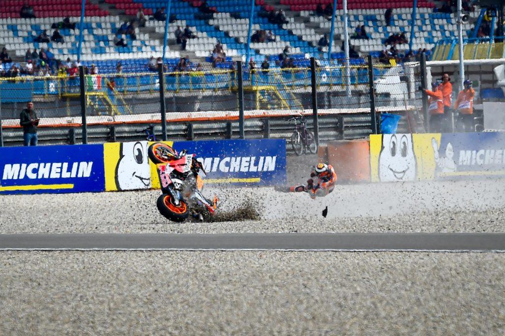 MOTO GP : GRAND PRIX DES PAYS BAS ASSEN DU 28 AU 30 JUIN 2019 Jorge-lorenzo-crash-assen-motogp-2019-2-1024x681