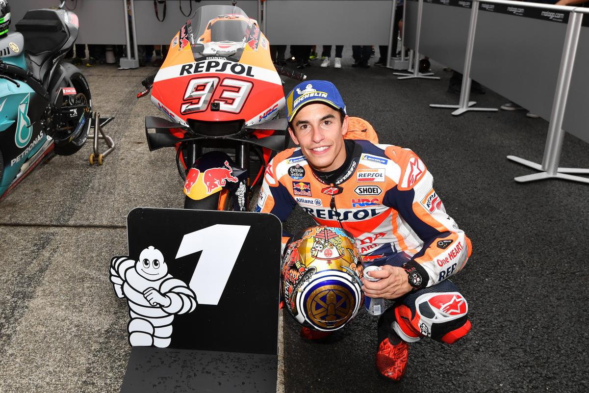 MOTO GP PILOTES-actualités Marc-marquez-motegi-2019-motogp-q2