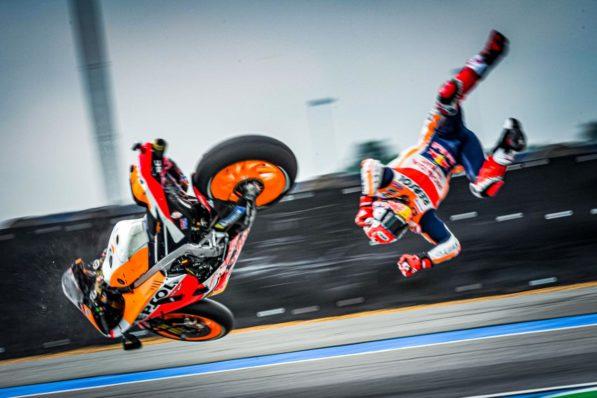 MOTO GP : GRAND PRIX DE THAÏLANDE DU 4 AU 6 OCTOBRE 2019 Marc-marquez-thailande-crash-motogp-fp1-2019-2-597x398