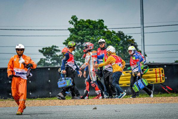 MOTO GP : GRAND PRIX DE THAÏLANDE DU 4 AU 6 OCTOBRE 2019 Marc-marquez-thailande-crash-motogp-fp1-2019-8-597x398