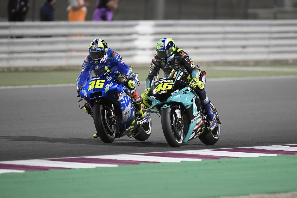 MOTO Grand Prix 888 du Portugal 2021 Joan-mir-valentino-rossi-losail-qatar-motogp-2021